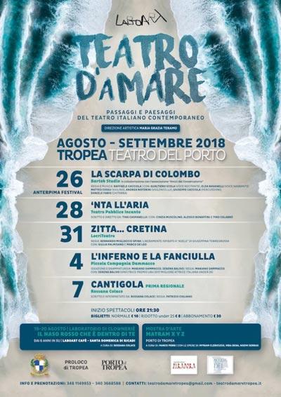 Teatro d'aMare: a Tropea tutti i segreti della drammaturgia calabrese