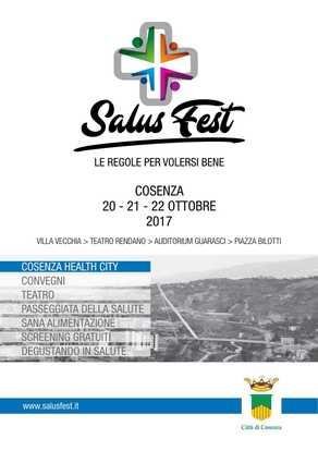 Cosenza: prima edizione della Salus fest dedicata alla salute del cittadino