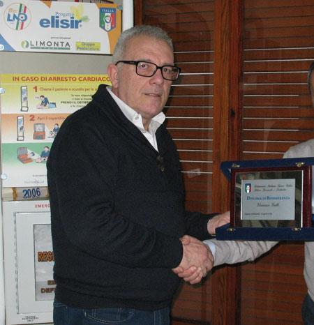 Reggio Calabria: consegna attestato di benemerenza sportiva a Enzo Gullo