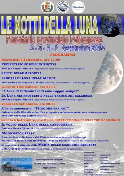 Reggio: al Planetario provinciale Pythagoras Le Notti della Luna