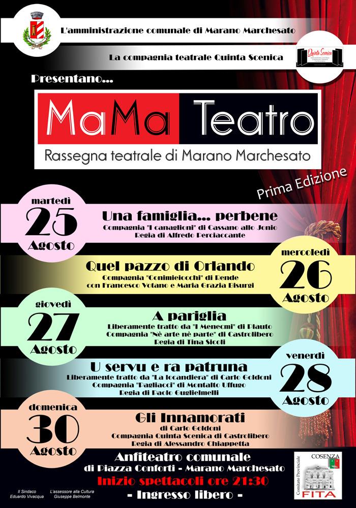 Marano Marchesato(CS): Rassegna teatrale MaMa Teatro 2015