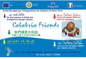 Progetto Calabria Friends: formazione a distanza e insegnamento lingua italiana ai cittadini stranieri