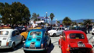 Grande partecipazione al raduno Fiat 500 sul Lungomare reggino