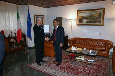 Catanzaro: Abramo ha fatto visita al Comandante della Legione carabinieri Calabria, Generale Lusi