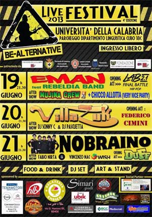 Al via la VI^ edizione del Be - Alternative Live Festival