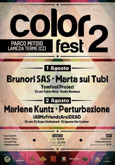 Color Fest 2014: musica e arte per l'estate Made in Sud