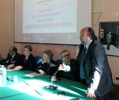 Regione Calabria e Provincia di Crotone insieme per la cultura