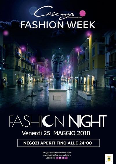 Il 25 maggio a Cosenza appuntamento con Fashion Night, la notte bianca della moda