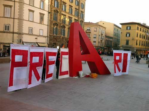 Flashmob a Cosenza: Precariato Mob_Basta