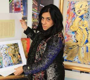 La pittrice Francesca Amendola dalla Biennale Internazionale d'Arte di Roma alla commissione cultura di Palazzo dei Bruzi