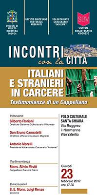 Vibo Valentia, incontri con la citt� - italiani e stranieri in carcere