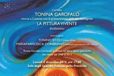 Tonina Garofalo presenta la sua monografia La Pittura Vivente