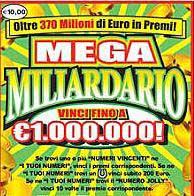 Catanzaro: vinti 1 milione di euro al Mega Miliardario