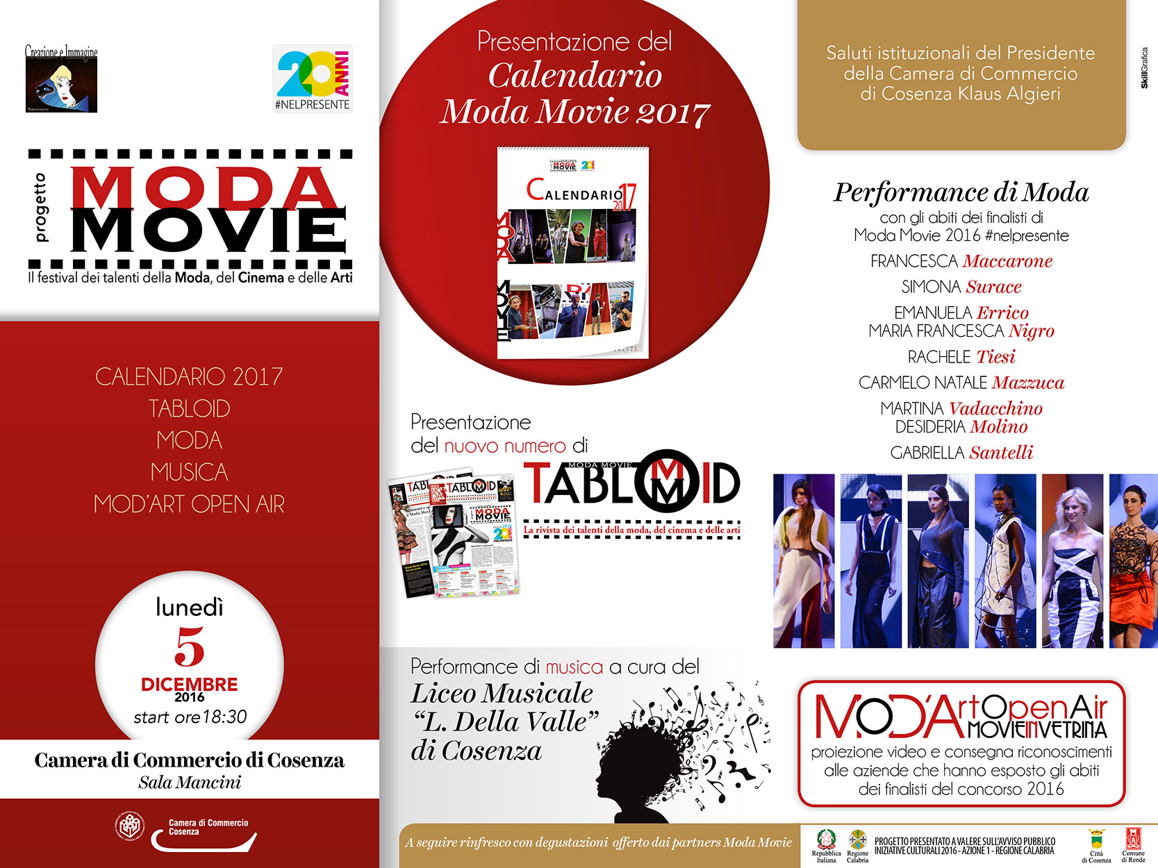 Cosenza, Moda Movie, presentazione del calendario 2017