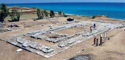 Maltempo danneggia il parco Antica Kaulonia di Monasterace, a rischio il grande mosaico ellenistico