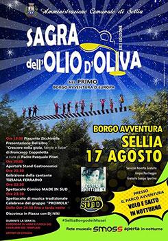 Sellia accoglierà la Sagra dell'olio d'oliva nel primo borgo avventura d'Europa