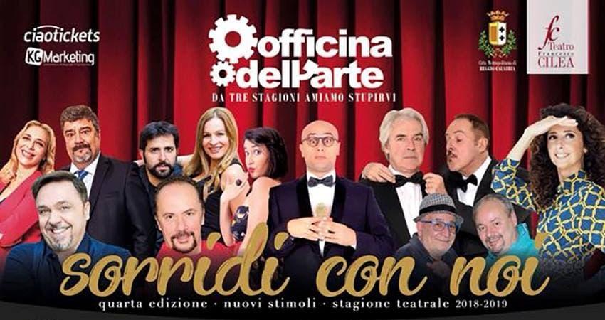 Il Teatro Cilea riparte con una nuova stagione teatrale a cura dell'Officina dell'Arte