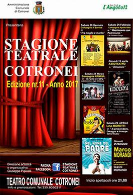 Crotone, programmazione teatrale 2017