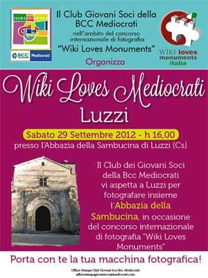 A Luzzi il Wiki Love Monuments Mediocrati