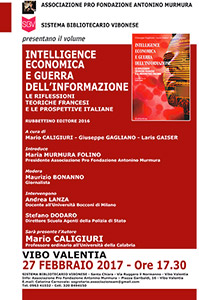 Vibo Valentia, presentazione del libro Vibo Valentia, presentazione del libro a cura di Mario Caligiuri, Giuseppe Gagliano e Laris Gaiser, edito da Rubbettino